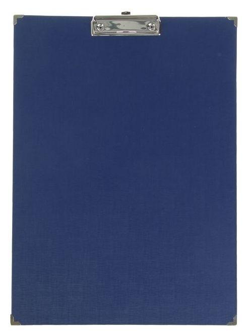 Планшет с зажимом, А3, 420 х 300 мм, бумвинил, с металлическими уголками, синий (Клипборд)  Канцбург