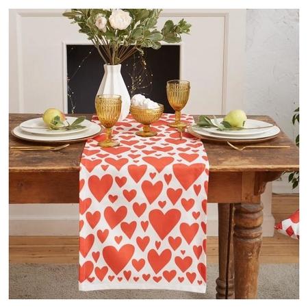 """Дорожка на стол """"Этель"""" Red Hearts 40х149см, 100% хл, саржа 190 г/м2  Этель"""