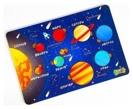 Обучающие вкладыши «Планеты»  Aba Iba