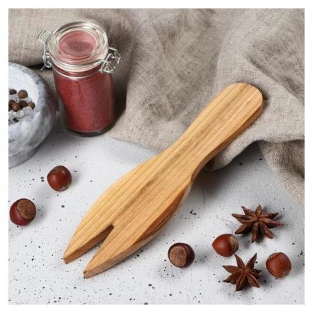 """Лопатка для салата деревянная """"Люкс"""", 20х5 см, массив черешни  Доброе дерево"""