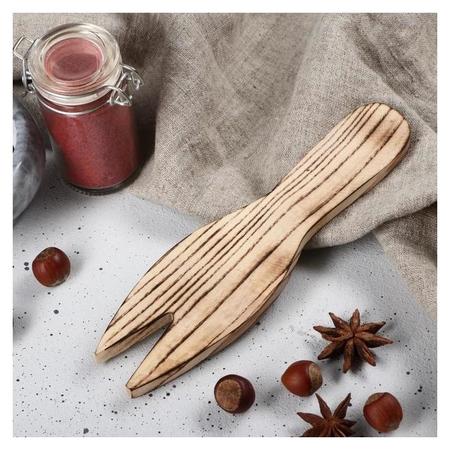 """Лопатка для салата деревянная """"Люкс"""", 20х5 см, массив ясеня  Доброе дерево"""
