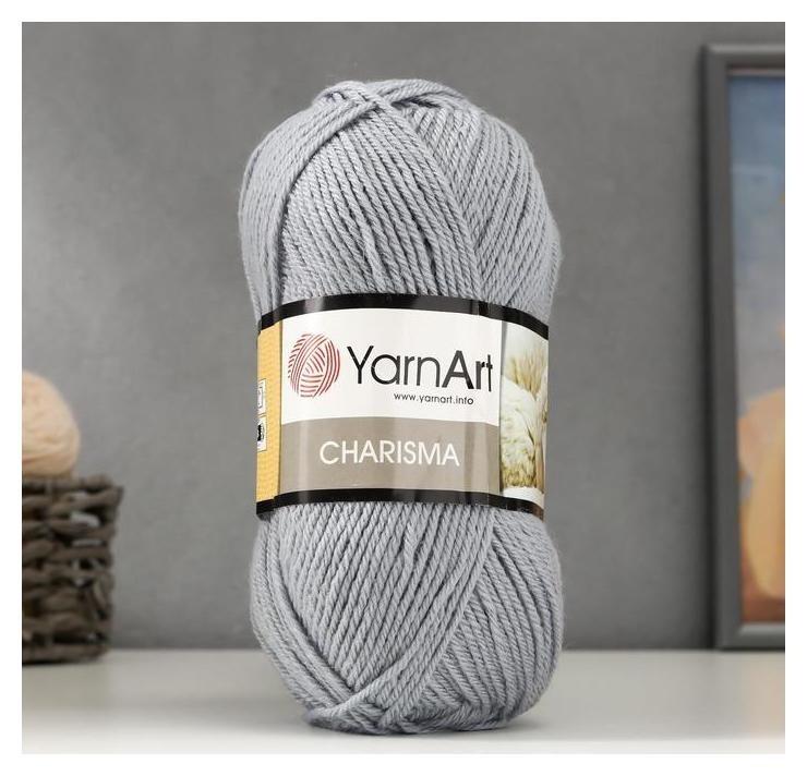 Пряжа Charisma 80% шерсть, 20% акрил 200м/100гр (3072 стальной) YarnArt