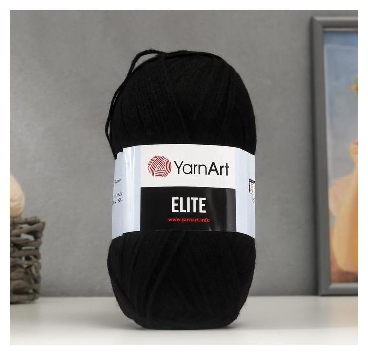 Пряжа Elite 100% акрил 300м/100гр (30 чёрный) YarnArt