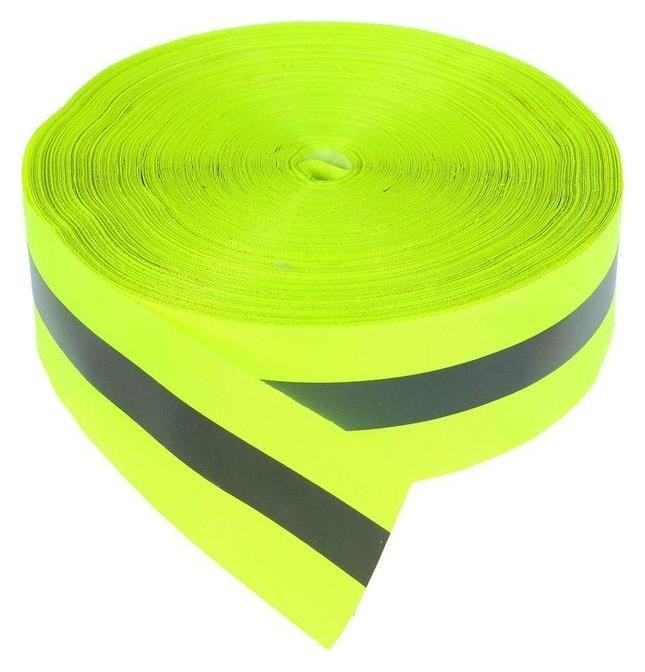 Светоотражающая лента серо-зеленая 5 см 100м NNB