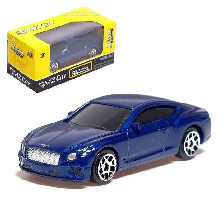 Машина металлическая Bentley Continental GT, масштаб 1:64, цвет синий NNB