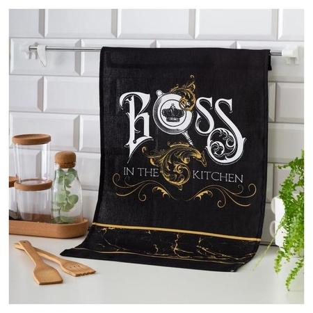 Полотенце Boss 35х60 см, 100% хл, 160г/м2  Доляна