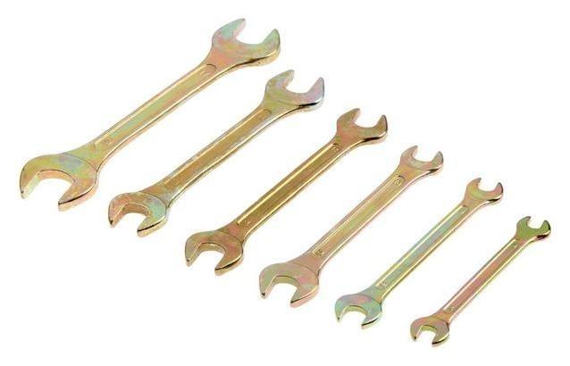 Набор рожковых ключей In Work, 6-19 мм, 6 шт., углеродистая сталь, цинковое покрытие NNB