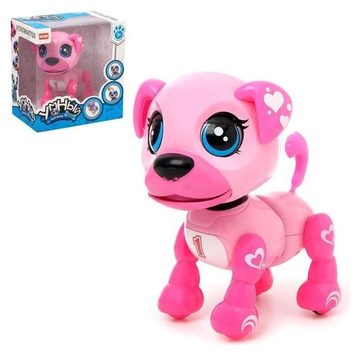 Интерактивная игрушка Умный щенок звук, цвет розовый NNB
