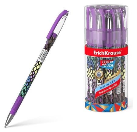 Ручка шариковая Erichkrause Colortouch Purple Python, узел 0.7мм, чернила/синие 50743  Erich krause