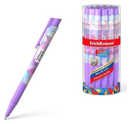 Ручка шариковая автомат Erichkrause Colortouch Magic Rhombs, узел 0.7мм, чернила/синие 50744  Erich krause