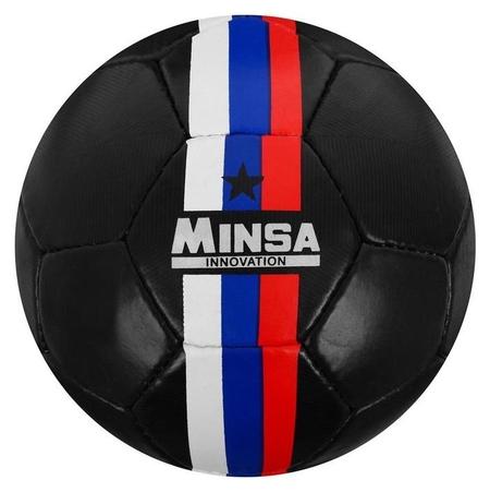 Мяч футбольный Minsa, размер 5, 32 панели, PU, ручная сшивка, латексная камера, 400 г  Minsa