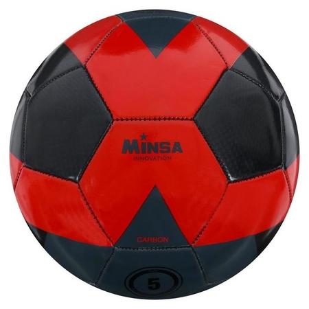 Мяч футбольный Minsa, размер 5, 32 панели, PU Carbon, машинная сшивка, латексная камера, 400 г Minsa