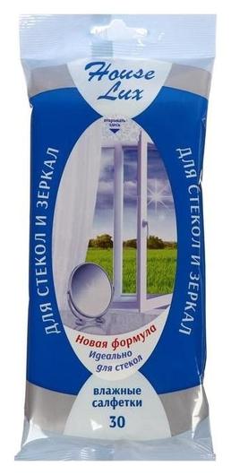 Влажные салфетки House Lux, для стекол и зеркал, 30 шт.  Авангард