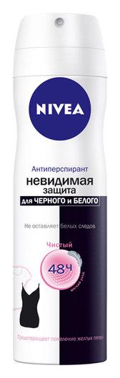 """Дезодорант-спрей """"Невидимая защита"""" для черного и белого Clear  Nivea"""
