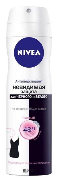 Купить Спрей для тела Nivea, Дезодорант-спрей Невидимая защита для черного и белого Clear, Германия
