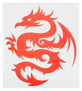 Термонаклейка дракон, цвет красный, набор 10 штук  NNB