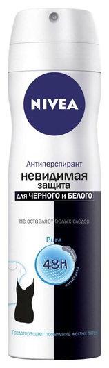 """Дезодорант-спрей """"Невидимая защита"""" для черного и белого Pure  Nivea"""