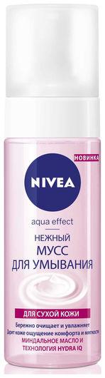 """Нежный мусс для умывания """"Aqua effect"""" для сухой кожи  Nivea"""