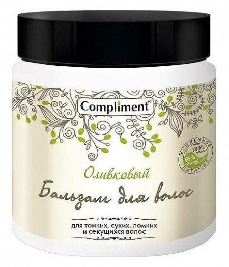 Бальзам для тонких, сухих, ломких и секущихся волос Оливковый  Compliment
