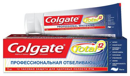"""Зубная паста Total 12 """"Профессиональная отбеливающая""""  Colgate"""