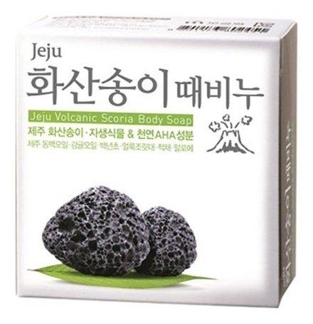 Мыло - скраб для тела с вулканической солью Jeju Volcanic Scoria Scrab Soap  Mukunghwa