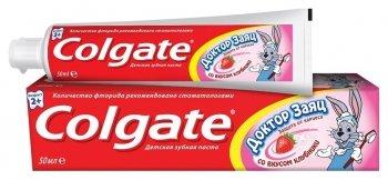 """Зубная паста """"Доктор заяц"""" со вкусом клубники"""