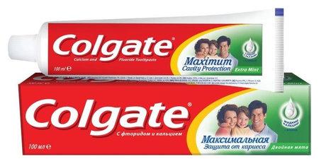"Зубная паста ""Максимальная защита от кариеса. Двойная мята""  Colgate"