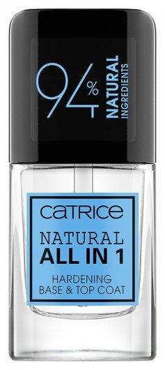 Покрытие базовое и верхнее для ногтей Natural All in 1 Hardening Base & Top Coat  Catrice