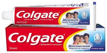 Зубная паста Максимальная защита от кариеса. Свежая мята Colgate