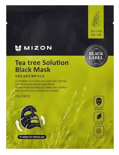 Маска для лица с экстрактом чайного дерева Tea tree Solution Black Mask Mizon
