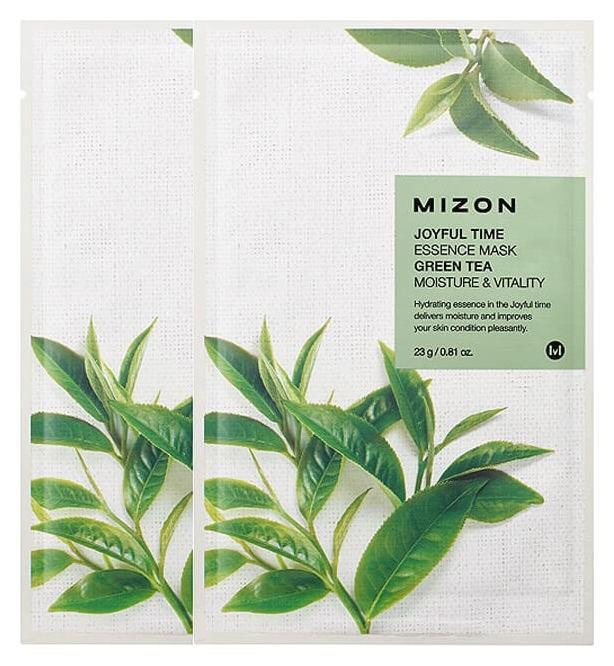 Тканевая маска для лица с экстрактом зелёного чая Joyful Time Essence Mask Green Tea  Mizon
