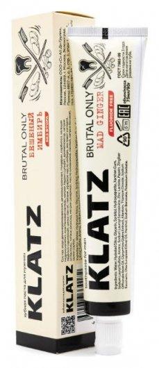 Зубная паста для мужчин бешеный имбирь без фтора  Klatz