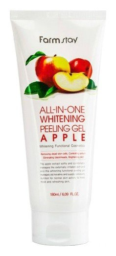 Отшелушивающий гель с экстрактом яблока Whitening Peeling Gel Apple  FarmStay