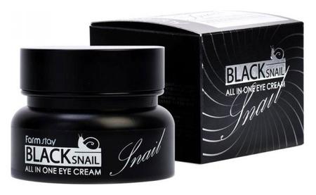 Многофункциональный крем с муцином черной улитки для кожи вокруг глаз Black Snail Eye Cream  FarmStay