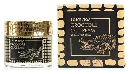 Питательный крем с крокодильим жиром Crocodile Oil Cream  FarmStay