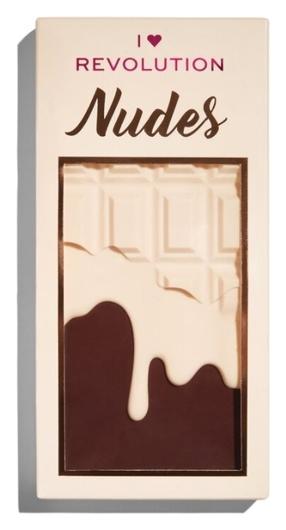 Палетка теней для век Chocolate Nudes  I Heart Revolution