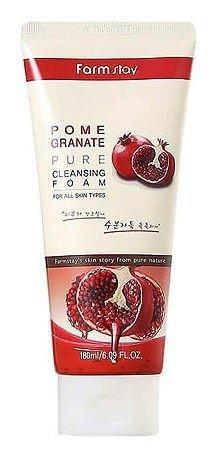 Антивозрастная пенка для умывания с экстрактом граната Pomegranate Pure Cleansing Foam  FarmStay