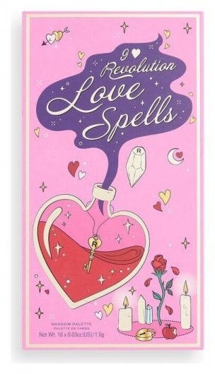 Палетка теней для век Spellbooks Love Spells  I Heart Revolution