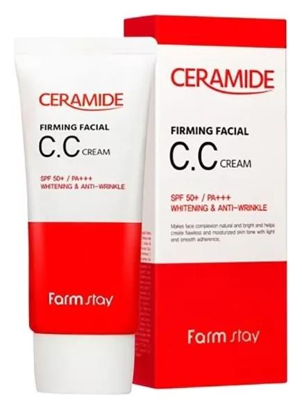 Укрепляющий СС крем с керамидами Ceramide Firming Facial CC Cream FarmStay Ceramide