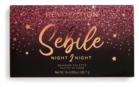 Палетка теней для век Sebile Night 2 Night  Makeup Revolution