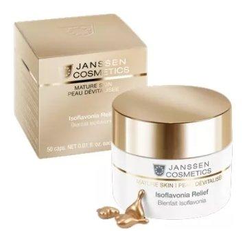 Капсулы с фитоэстрогенами и гиалуроновой кислотой Isoflavonia Relief  Janssen Cosmetics
