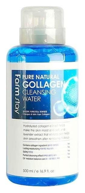 Очищающая вода с коллагеном Pure Natural Collagen Cleansing Water FarmStay Collagen