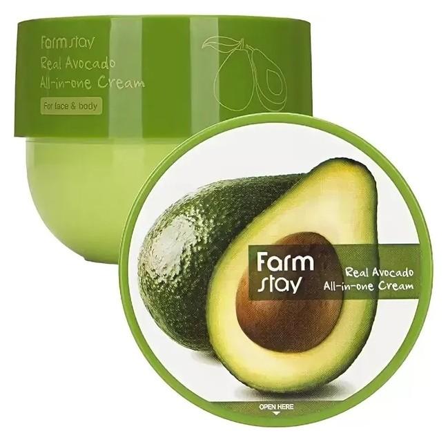 Антивозрастной крем с экстрактом авокадо Real Avocado All-In-One Cream FarmStay All-in-One