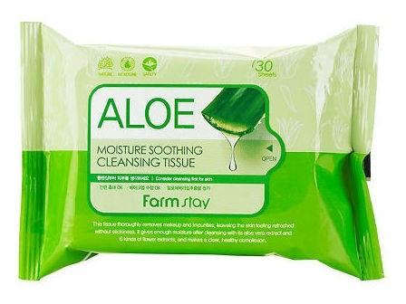Очищающие увлажняющие салфетки с экстрактом алоэ FarmStay