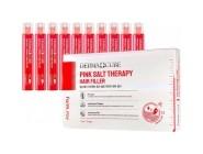 Укрепляющий филлер с розовой солью для волос Pink Salt Therapy Hair Filler FarmStay Derma сube