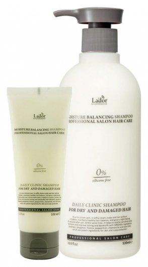 Шампунь для сухих и поврежденных волос увлажняющий безсиликоновый Moisture Balancing Shampoo  LADOR
