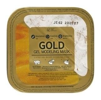 Альгинатная гелевая маска с коллоидным золотом Пудра+гель  Lindsay