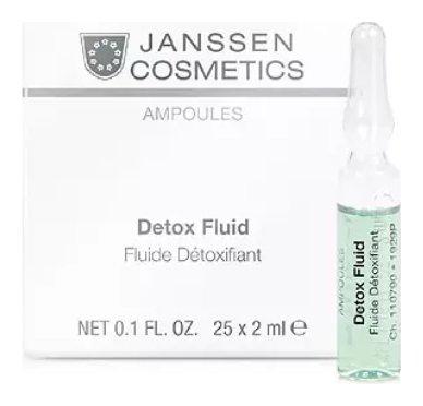 Детокс-сыворотка для кожи лица в ампулах Detox Fluid  Janssen Cosmetics