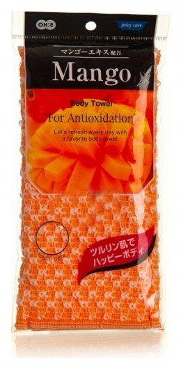Массажная мочалка мягкая с антиоксидантами Манго  NNB