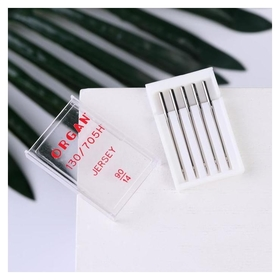 Иглы для бытовых швейных машин, для джерси, №90/14, 5 шт  Organ